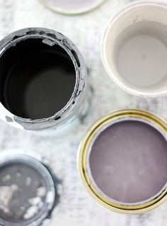 Grey + lavender + black + gold
