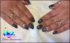 Diabolos gel polish (Indigo) geometric ombre design