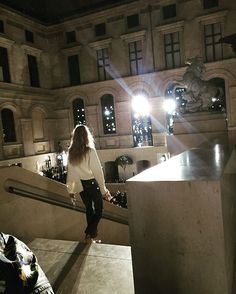 @louisvuitton #pfw #louvre #modern #cool #bravo  via ELLE GERMANY MAGAZINE OFFICIAL INSTAGRAM - Fashion Campaigns  Haute Couture  Advertising  Editorial Photography  Magazine Cover Designs  Supermodels  Runway Models