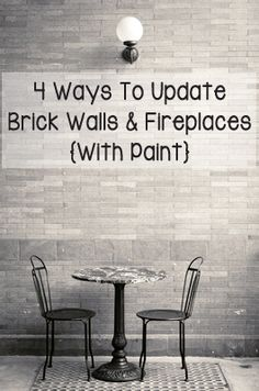 If you have brick around a fireplace or one of your walls is brick and you are looking for a way to update the look. Here are a few different styles you can paint it