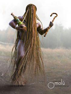 Goddess Art, Moon Goddess, African Mythology, Roman Mythology, Greek Mythology, Yoruba Orishas, Estilo Tribal, Yoruba Religion, Gal Gadot Wonder Woman