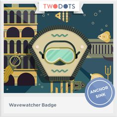 I floated far from shore and earned my Wavewatcher Badge! - playtwo.do/ts #twodots