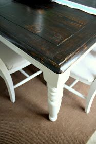 Burlap and Lace: Refinishing the Dining Room Table