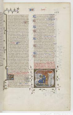 Grandes Chroniques de France. Date d'édition : 1375-1380 177r