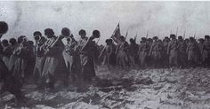 Russian regiment at Battle of Mukden. Much of the regiment was wiped out (Wikimedia Commons). (p. 100)