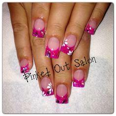 Summer nail art. Like my Facebook page @ Pinked Out Salon.  #nails #nailart #nail