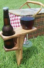 backyard beer bottle holder. making them for my family