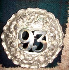 Scottish 2nd Argyll and Sutherland Highlanders Pipers Plaid Brooch Old 93rd