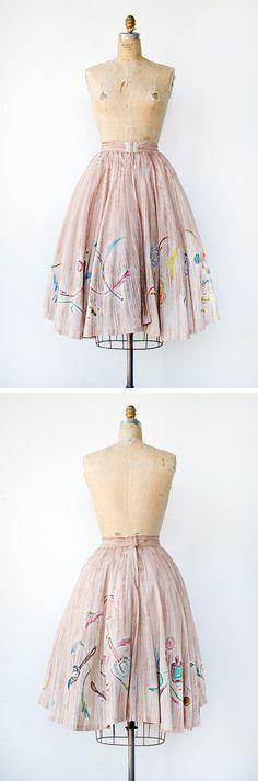 vintage 1950s skirt | Belle Du Jours Skirt