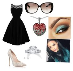 """""""⚡️"""" by kenzie4ever11 on Polyvore featuring Casadei, Gucci, Lord & Taylor and Vera Wang"""