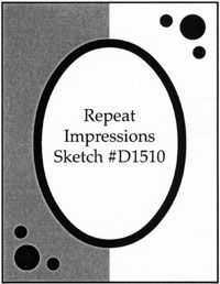 Repeat Impressions Sketch D1510. Play along with our WHAT IF? Wednesday Sketch Challenges for your chance to win a Repeat Impressions gift certificate! - http://www.thehousethatstampsbuilt.com - #repeatimpressions #rubberstamps #cardmaking