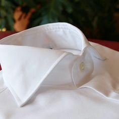 CORDONE 1956 - Royal Twill white luxury shirt handmade view all details at : www.cordone1956.it