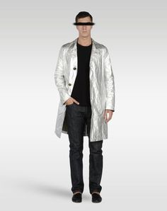 """Silver, one of the major themes interpreted in the Maison Martin Margiela menswear Spring-Summer 2013 collection through """"Artisanal"""" touches."""