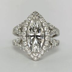 Marquise Diamond RIng from Oliver Smith Jeweler.
