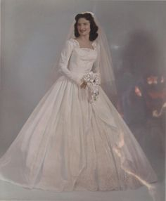 Vintage Brides — From photo source: Sissy's wedding portrait I...