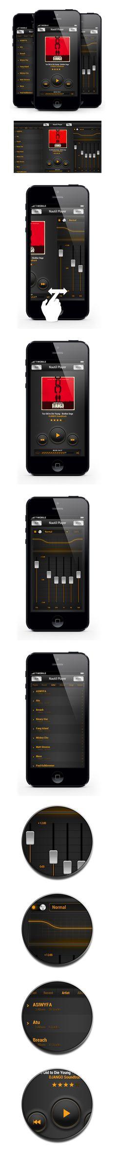 FREE PSD - Nautil Player by gabor styt, via Behance *** #freepsd #psd #gui #ui #app #behance