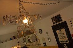 lámpara colgante diseño estrella