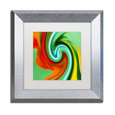 Amy Vangsgard 'Abstract Flower Unfurling Square 2' Matted Framed Art