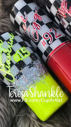 Personalized Tumblers, Custom Tumblers, Dirt Track Racing, Drag Racing, Cup Art, Checkered Flag, Racing Motorcycles, Summer Activities, Valentine Gifts