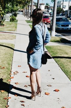 Denim Dress - H&M / Shoes - Charlotte Russe #sandiego #california