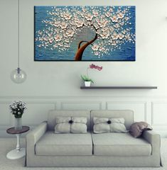 Technology Will Save Us Gamer DIY Kit Vertical Paintings Gold Flower Tree Canvas Art Decor Living Room – AsdamArt 3d Art Painting, Modern Painting, Texture Painting On Canvas, Acrylic Painting Canvas, 3d Canvas Art, Tree Canvas, Abstract Wall Art, Flower Canvas, Oversized Wall Art