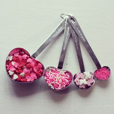 """#wedding and #bridal shower favors Simply Elegant """"Love Beyond Measure"""" Heart-Shaped Stainless-Steel Measuring Spoons Sale Price: $2.34 (15% off)"""