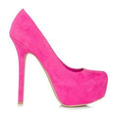 JUSTFAB laurence heels 6 in pink Hot pink/ Fushia 6 in heels. Plaform 2.25 in. BRAND NEW JustFab Shoes Heels
