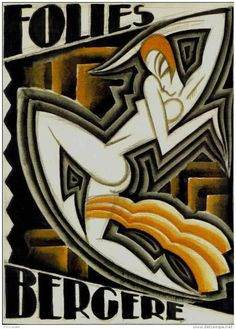 Maurice Picaud, Folies Bergere Poster, France, ca. 1926