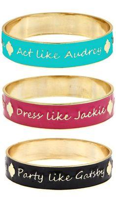Act like Audrey | Dress like Jackie | Party like Gatsby