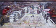piazza duomo, milano. Dipinto di Francesco Santosuosso