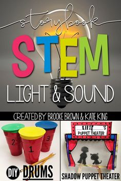 Light and Sound STEM Challenges, Language Arts Components, and Science Activities to match favorite picture books | Elementary STEM Activities