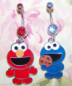 cookie monster belly button ring