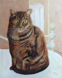 """""""Chloe"""" - Genesis heat-set oils on canvas, 16x20"""". #cat #portrait #painting #oilpainting #petportrait"""