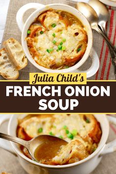 French Onion Soup Recipe Julia Child, Classic French Onion Soup, Roasted Veggies In Oven, Soup Recipes, Cooking Recipes, Quick Easy Dinner, Soup And Salad, Soups And Stews, Favorite Recipes