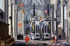 Bartholomeus van Bassen, Interior of an Imaginary Church with the Tomb of William the Silent, 1620, Budapest Museum of Fine Arts (Szépművészeti Múzeum), Budapest, Hungary