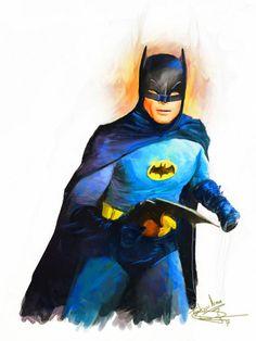Adam West as Batman by Daniel Scott Gabriel Murray Batman 1966, I Am Batman, Batman Robin, Batman Stuff, Superman, Nightwing, Batgirl, Dc Comics, D Mark