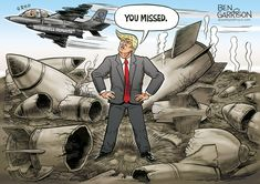 Political Humor And Memes -The deranged leftist media keeps aiming for the president and keeps missing Political Satire, Political Views, Political Cartoons, Funny Cartoons, Funny Memes, Donald Trump Wedding, Ben Garrison, God Bless America, Funny Art