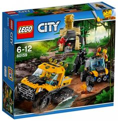 Explore what lies within the LEGO® City jungle on a Jungle Halftrack Mission, featuring a truck with tracks on the back wheels, storage Lego City Sets, Lego Sets, Legos, Lego Boards, Walmart, All Lego, Summer Set, Buggy, Chenille