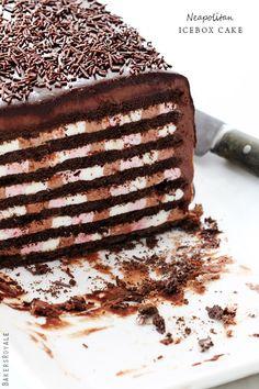 Neapolitan Icebox Cake - Click For Recipe