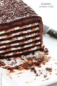 Neapolitan Icebox Cake | click on the image to visit the recipe site