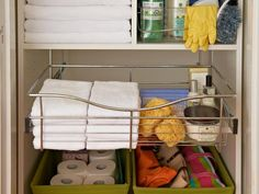 Broom and Utility Closet Organization I wish I could be organized Linen Closet Organization, Bathroom Organization, Organization Hacks, Organizing Ideas, Small Linen Closets, Narrow Closet, Hallway Closet, Diy Bathroom Vanity, Small Bathroom
