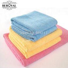 New 2017 Towel Set--3pc/Set  Microfiber Beach Travel Towel Bath Sheet Hand Towel Face Cleansing Cloth