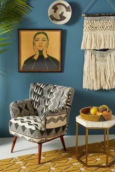 Handmade Home Decor Boho Living Room, Living Room Decor, Bedroom Decor, Bedroom Ideas, Dining Room, Design Salon, Retro Home Decor, 1950s Decor, Traditional Decor