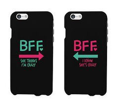 Funny bff phone cases - crazy best friend phone covers for iphone 4 Iphone 7, Bff Iphone Cases, Bff Cases, Funny Phone Cases, Ipod Cases, Coque Iphone, Phone Covers, Phone Cases Samsung, Diy Phone Cases