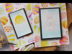 Nichol Spohr LLC: Simon Says Stamp March 2017 Card Kit | Zig Watercolored Easter Cards