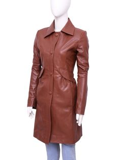 Catherine Tate The Doctor Who Donna Noble Coat Leather Trench Coat, Leather Jacket, Catherine Tate, David Tennant Doctor Who, Donna Noble, Leather Collar, Party Looks, Shirt Style, Jack Harkness