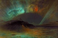Frederic Edwin Church (May 4, 1826 – April 7, 1900) was an American landscape painter[1] born in Hartford, Connecticut. He was a central figure in the Hudson River School of American landscape painters, perhaps best known for painting large panoramic landscapes, often depicting mountains, waterfalls, and sunsets, but also sometimes depicting dramatic natural phenomena that he saw during his travels to the Arctic and Central and South America.