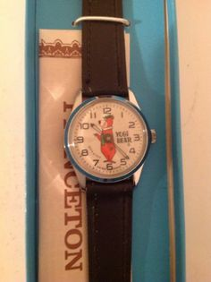 Vintage 1972 Hanna Barbera Yogi Bear PRINCETON Wristwatch WATCH Children's Watches, 60s Toys, Kid Character, Hanna Barbera, Vintage Children, Childhood Memories, Have Fun, Bear, Classic