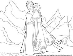 printable anna and elsa coloring pages | Only Coloring Pages ...
