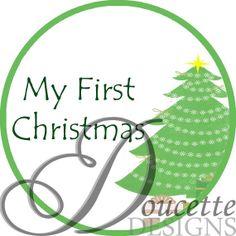 Baby - My First Christmas Onesie Sticker, $2